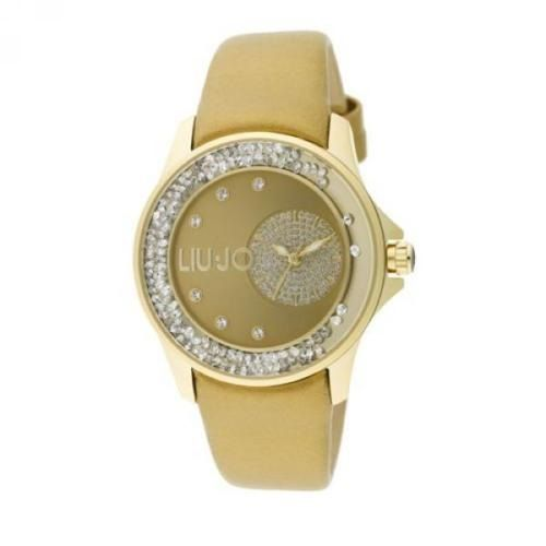 Dettagli su Liu Jo Orologio Watch Woman Uhr Donna Pelle Dorato TLJ732 Oro Strass Dancing New