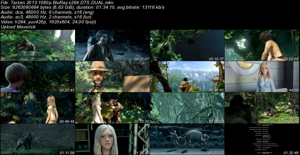 Tarzan - 2013 BluRay 1080p DuaL MKV indir