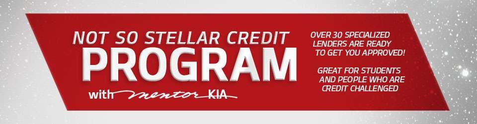 Kia Finance Bad Credit >> Not So Stellar Credit Program Mentor Kia