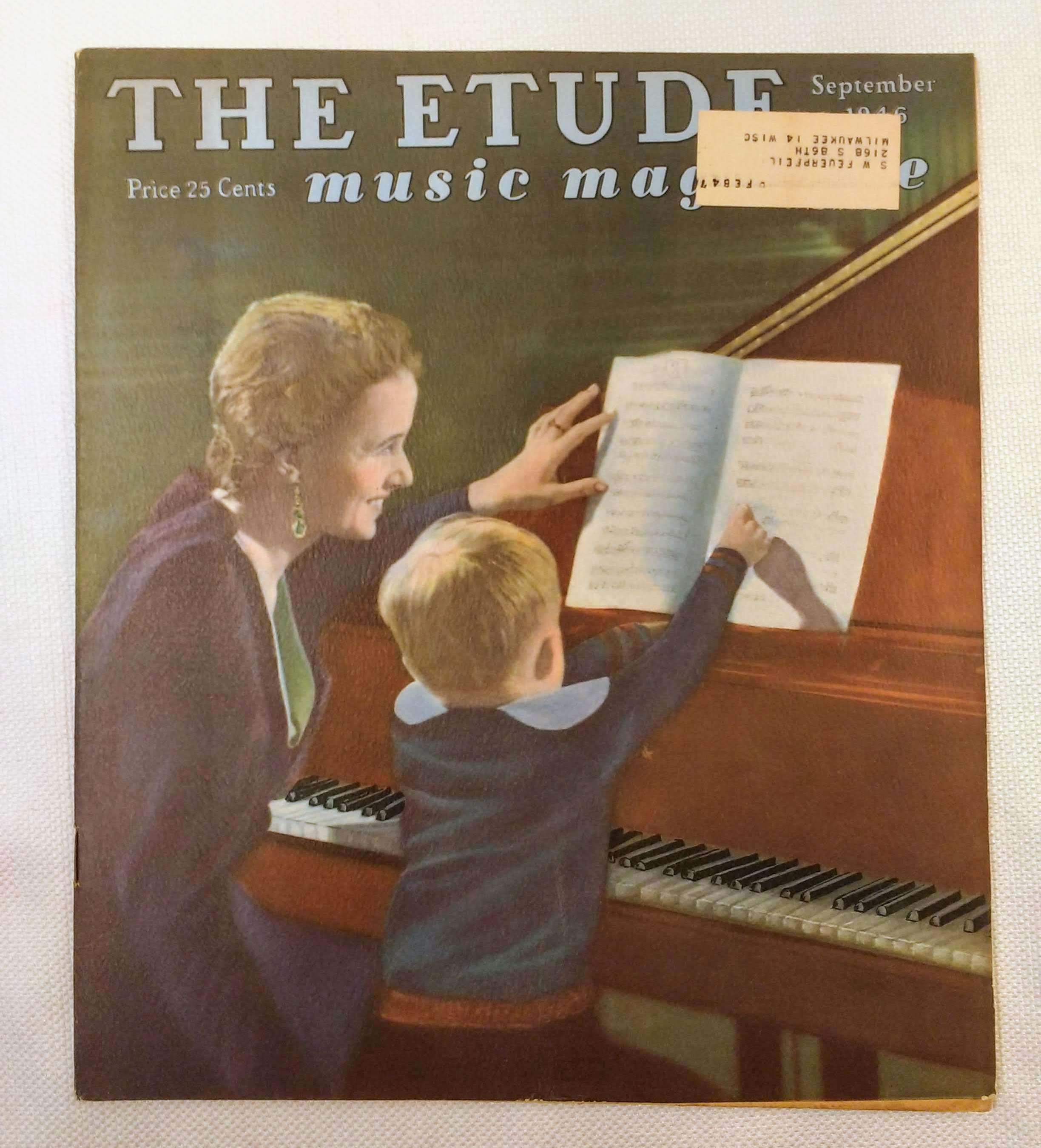 The Etude Music Magazine: Volume LXIV, No. 9; September, 1946, Cooke, James Francis [ed.]