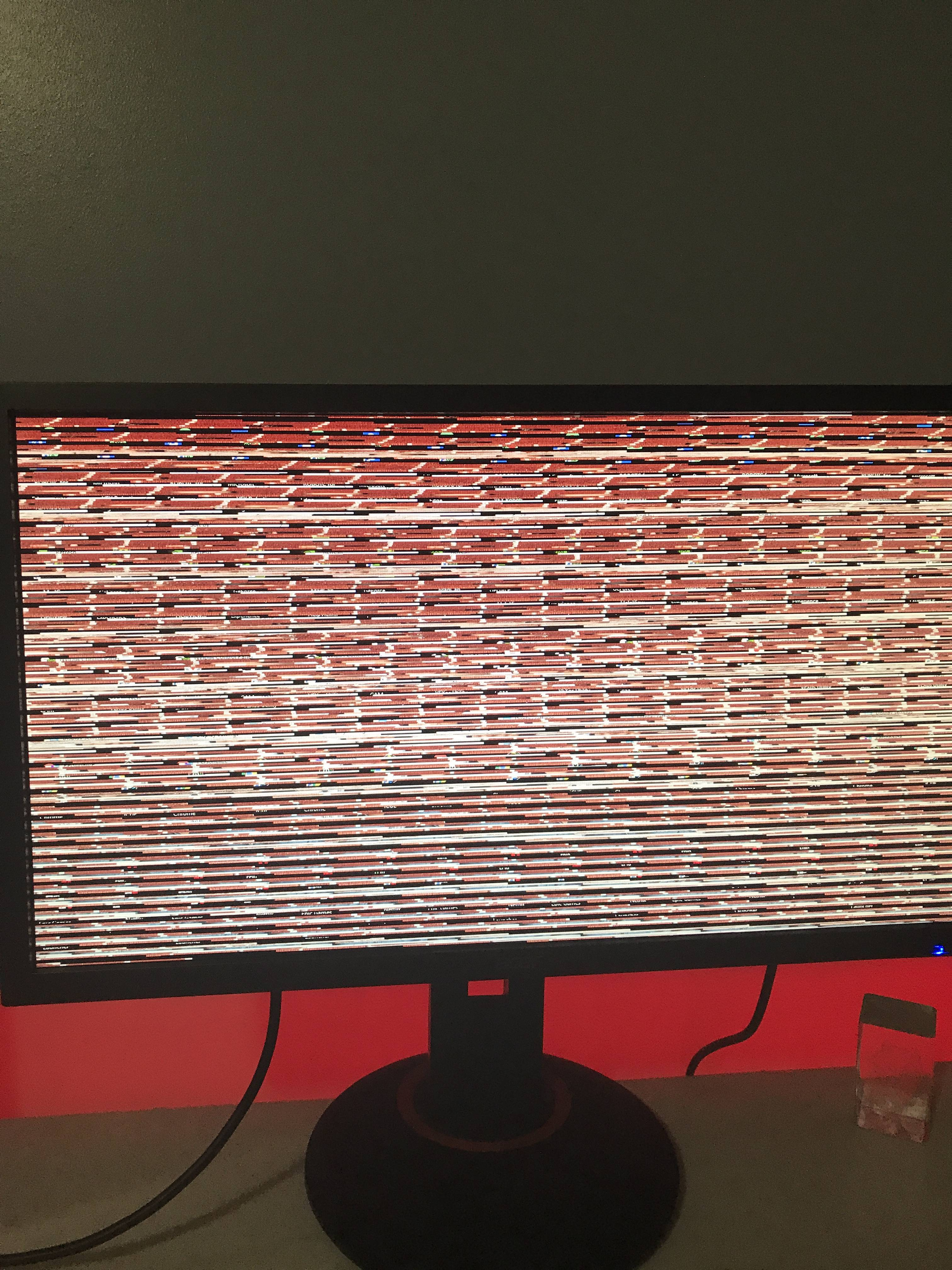 Question - Messed up Monitor Screen/ GPU or Dead Monitor DP Port