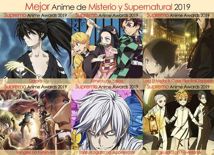 Final X Categorias Nominados a Mejor Anime de Misterio y Supernatural 2019
