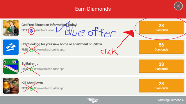 How to display the 'secret' hidden offers from Tapjoy