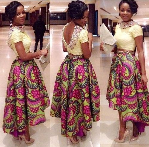 long Fashion made with Ankara