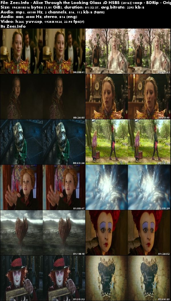 Alice Through the Looking Glass 2016 3D HSBS 1080p BDRip Tamil Eng Download