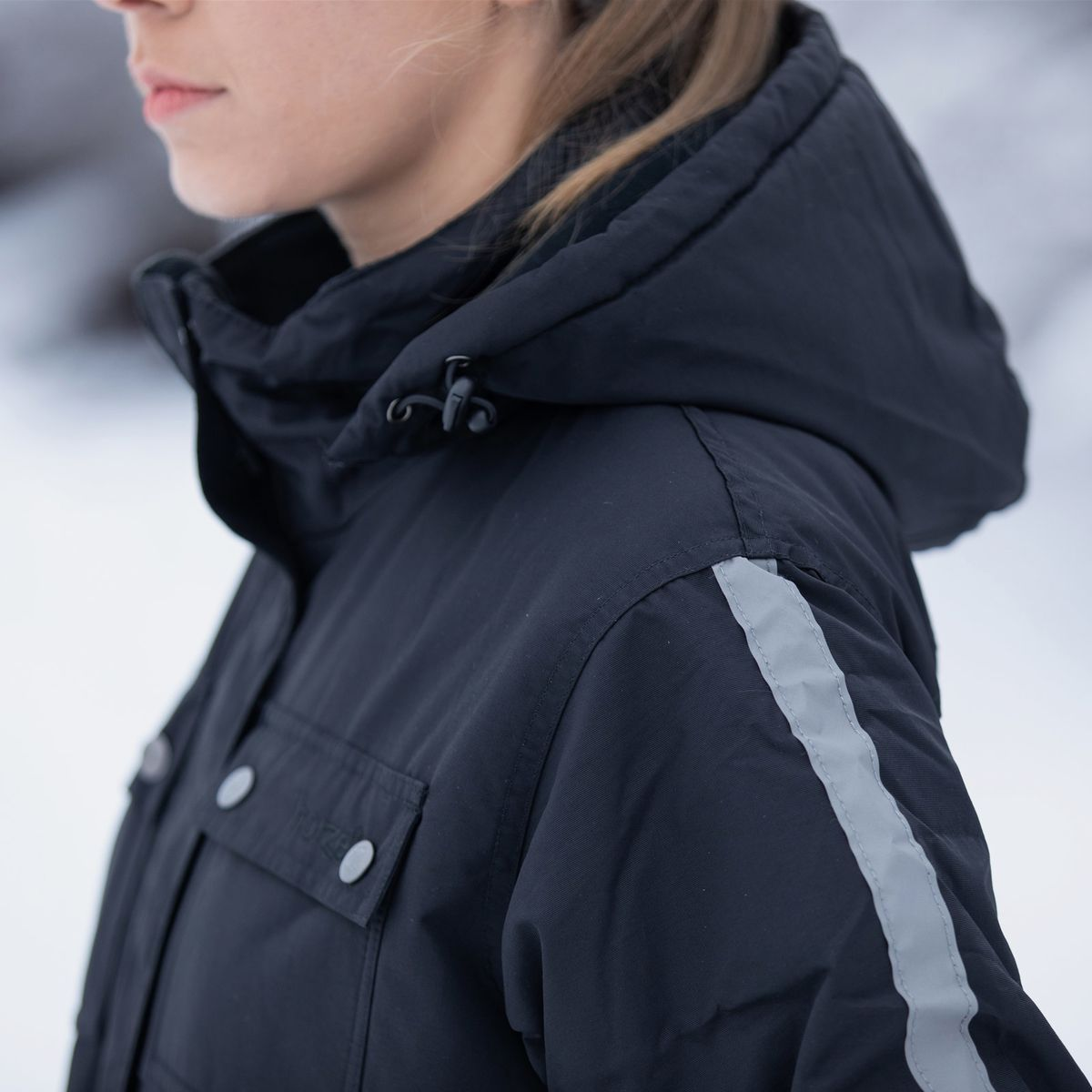 ed46d9fa01b Horze Winter Rider Jacket with Reflective Strips and Detachable Hood ...