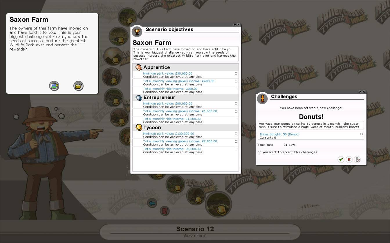 Scenario Information Image for FlightToAtlantis.net: RCT3 FAQ: Campaign Scenario Directory Specifics: Saxon Farm