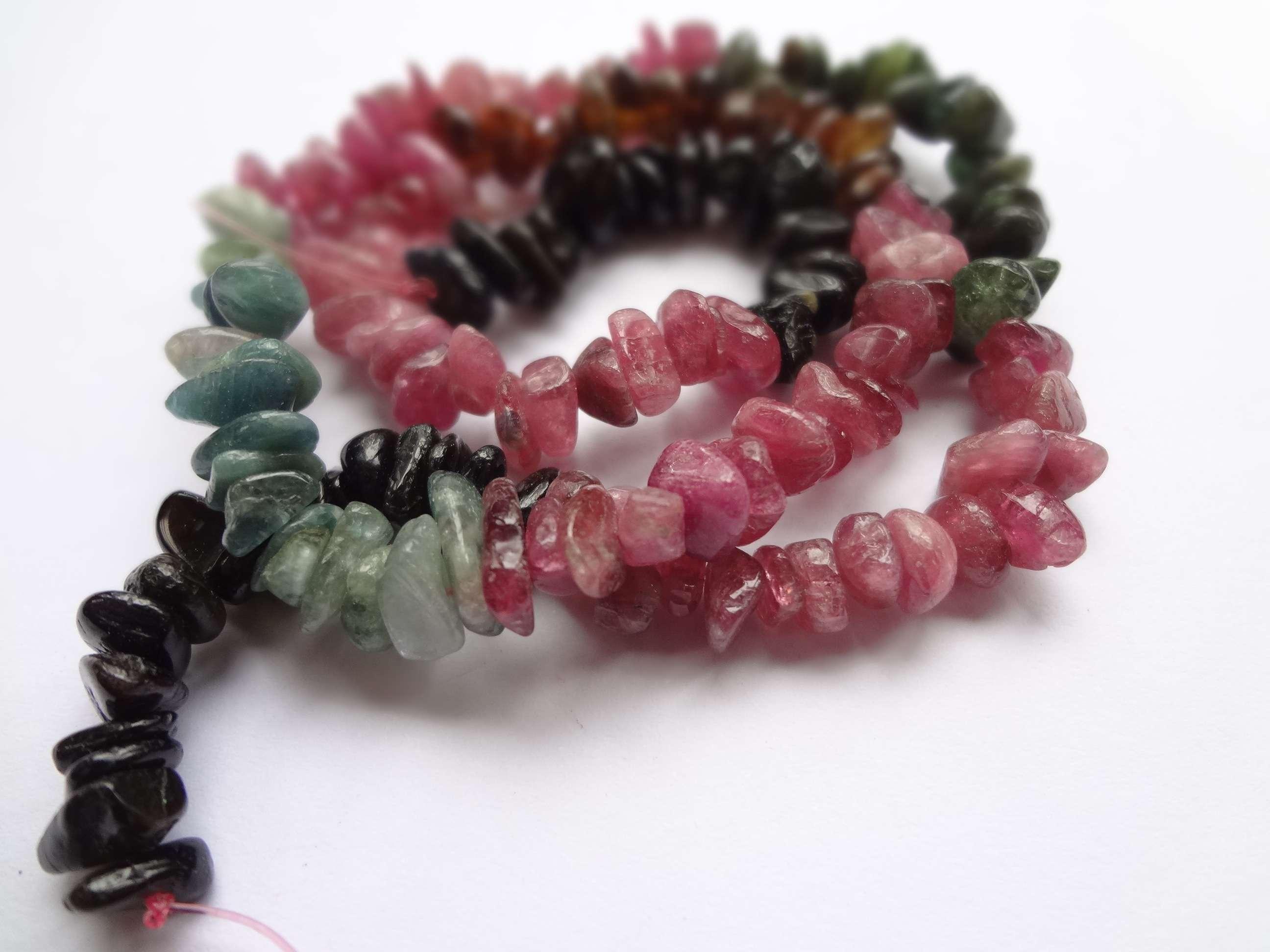 "6mm Natural Rainbow Tourmaline Round Beads 15.5"" Strand Oz Seller Red Black"