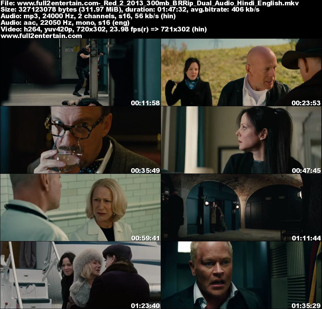Red 2 (2013) Full Movie Free Download HD 300mb