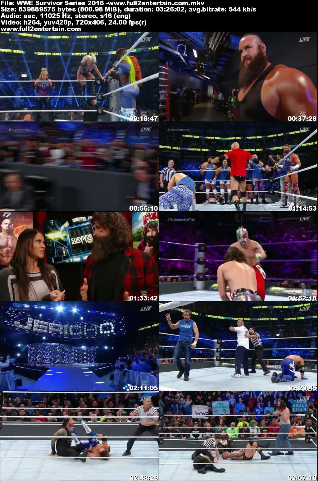 Wwe Survivor Series 2016 Download 720p Bluray