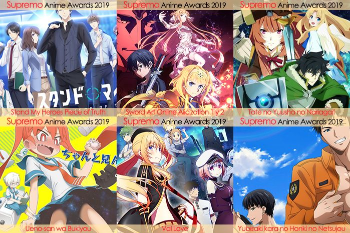 Eliminatorias Nominados a Mejor Anime de Romance 2019