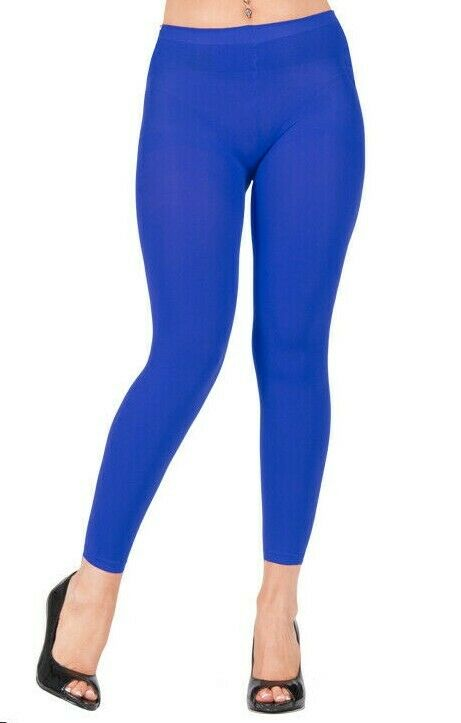 ONE SIZE LADIES  FASHION 50 DENIER FOOTLESS OPAQUE TIGHTS IN MANY COLOURS