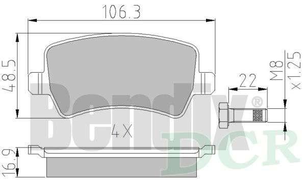 Si adatta LAND ROVER RANGE ROVER EVOQUE LV 2.0 D 4x4 Borg /& Beck PASTIGLIE FRENO POSTERIORE