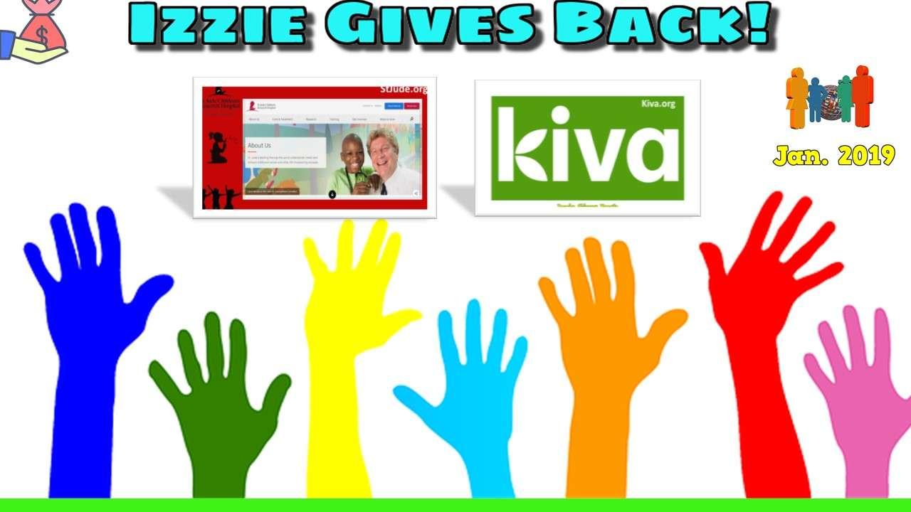 Izzie Gives Back