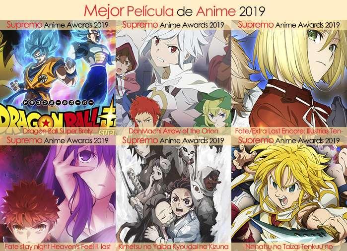 Final X Categorias Nominados a Mejor Película de Anime 2019