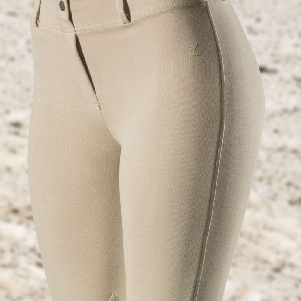 Horze-Ella-Women-039-s-Pull-On-Leather-Knee-Patch-Riding-Breeches-Knitted-Fabric thumbnail 17