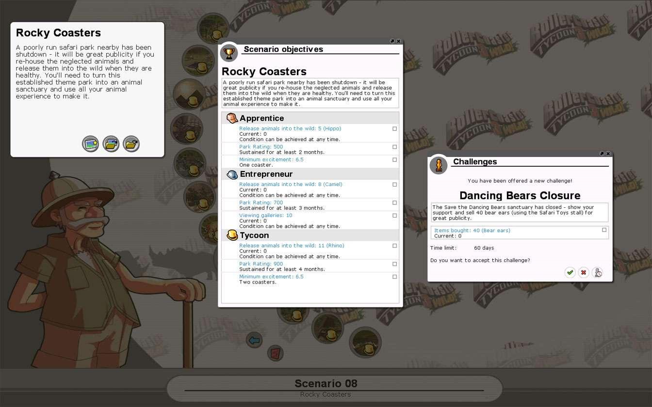 Scenario Information Image for FlightToAtlantis.net: RCT3 FAQ: Campaign Scenario Directory Specifics: Rocky Coasters