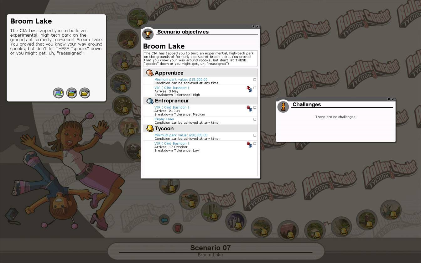 Scenario Information Image for FlightToAtlantis.net: RCT3 FAQ: Campaign Scenario Directory Specifics: Broom Lake