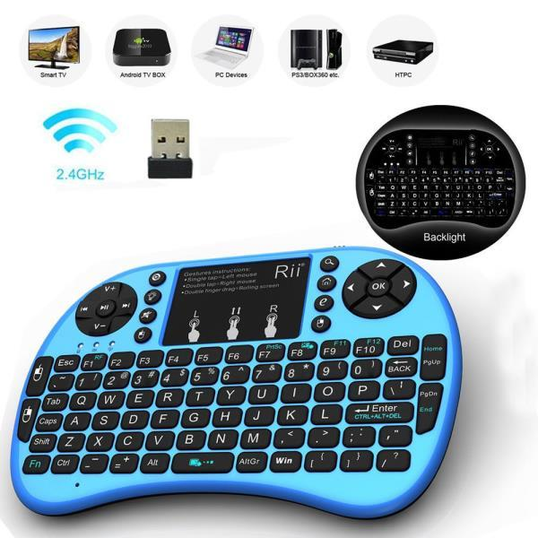 Rii I8+ 2.4Ghz Mini Wireless Keyboard BACKLIGHT For PS4