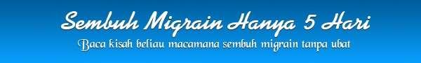 sembuh migrain tanpa ubat hanya dgn lapik tilam bvsm
