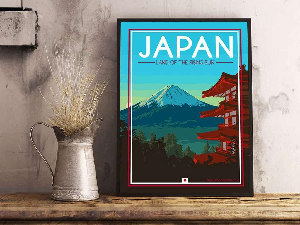 VINTAGE JAPAN TRAVEL A4 POSTER PRINT