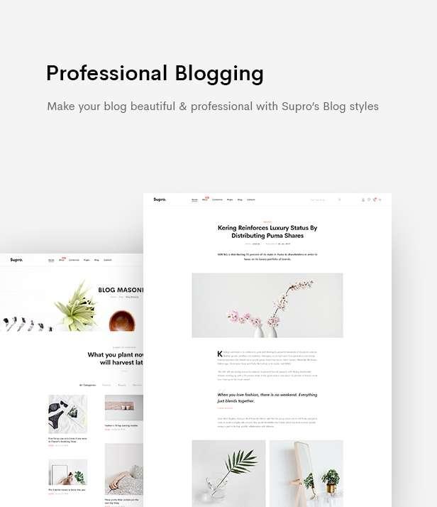 Supro | Minimalist eCommerce PSD Template - 14
