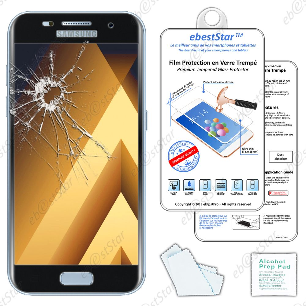 film protection cran verre tremp incurve anti casse samsung galaxy a5 2017 ebay. Black Bedroom Furniture Sets. Home Design Ideas