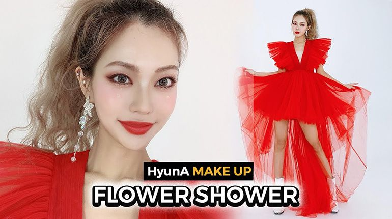 Hyuna's Flower Shower Makeup for Chinese New Year