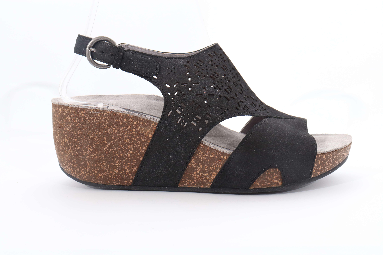 Abeo Unify Sandals Wedges Black Women's