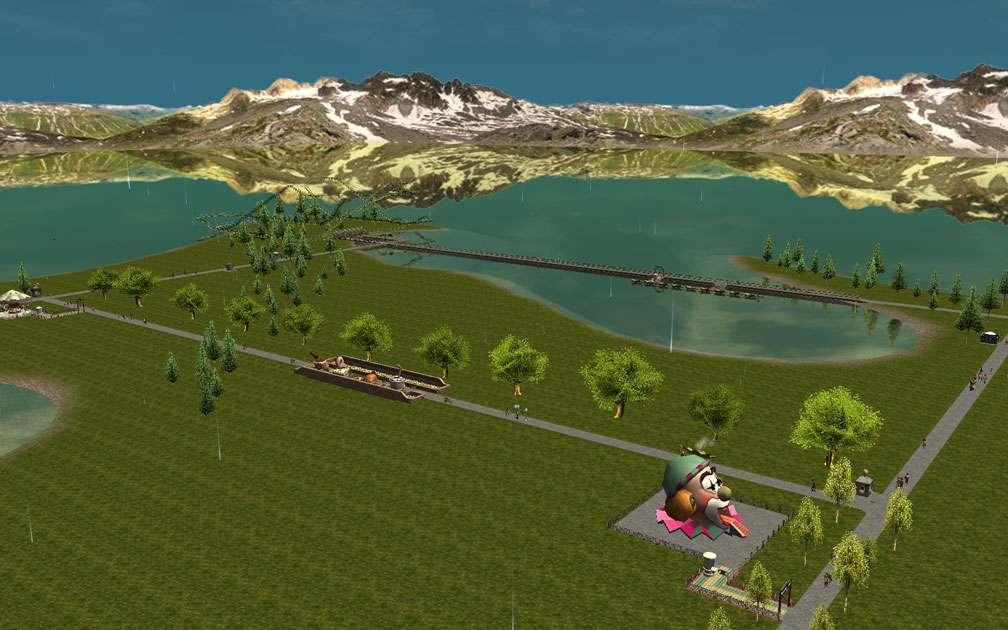 Illustration 01, Primary Vista Screenshot, FlightToAtlantis.net - My Downloads, Parks and Coasters - Scenario: Indian Lake