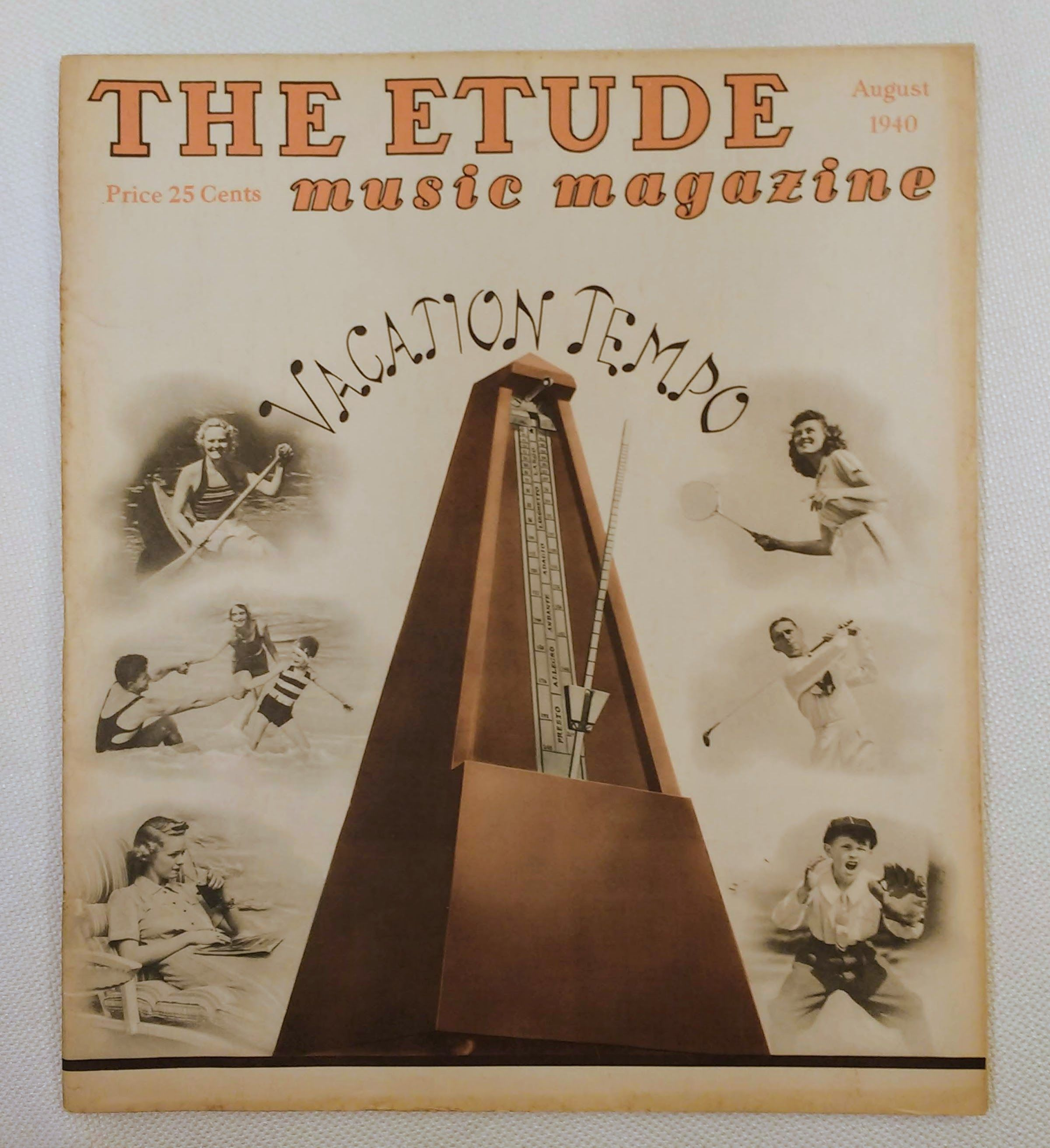 Image for The Etude Music Magazine: Volume LVIII, No. 8; August, 1940