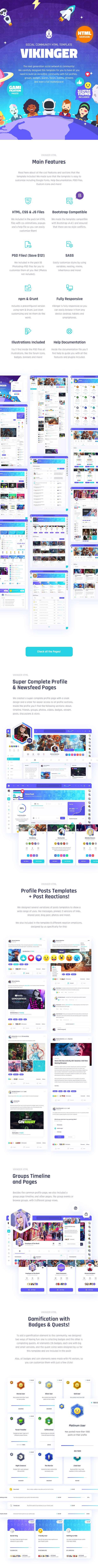 Vikinger - Social Community and Marketplace HTML Template - 9