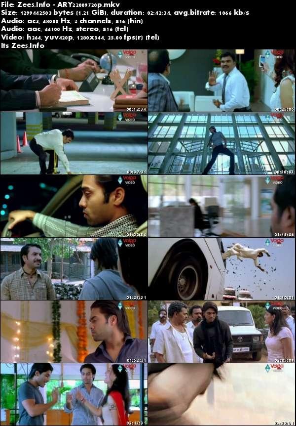 Arya 2 2009 720p UNCUT HDRip Dual Audio Hindi Telugu Download