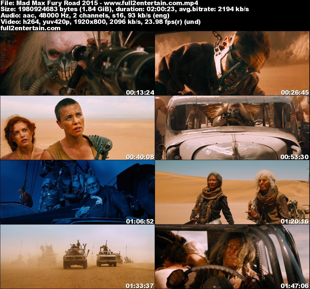 Mad Max: Fury Road 2015 Full Movie Free Download HD 1080p (1.8Gb)