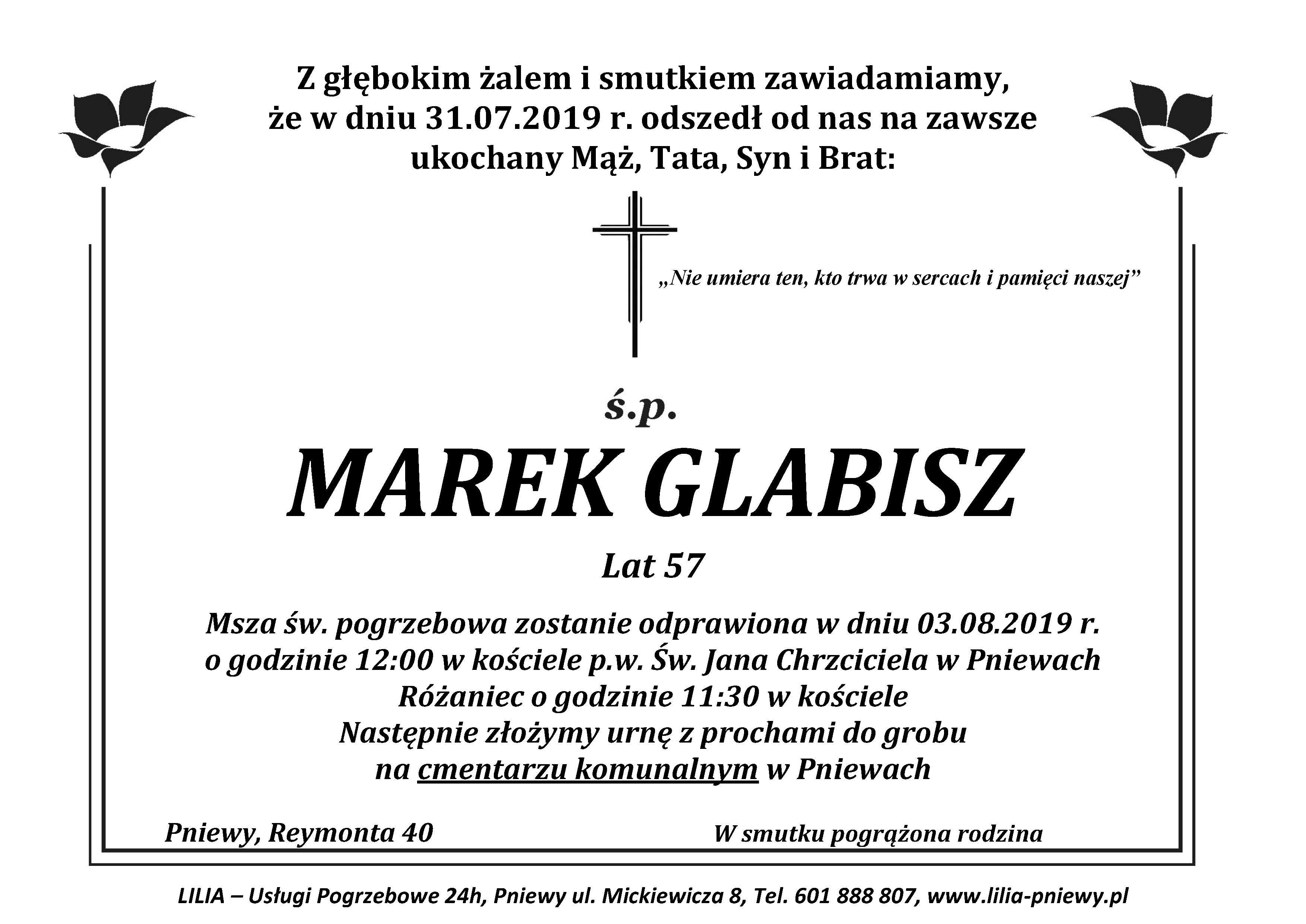Żyli wśród nas – Marek Glabisz