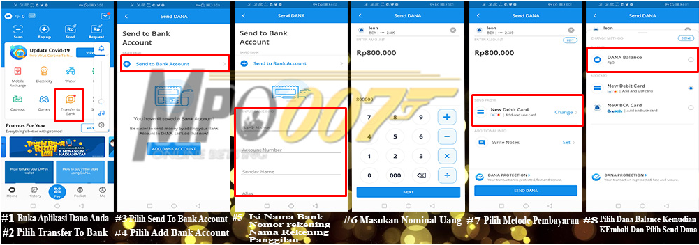 Panduan Tutorial Transfer Dana ke Rekening Bank
