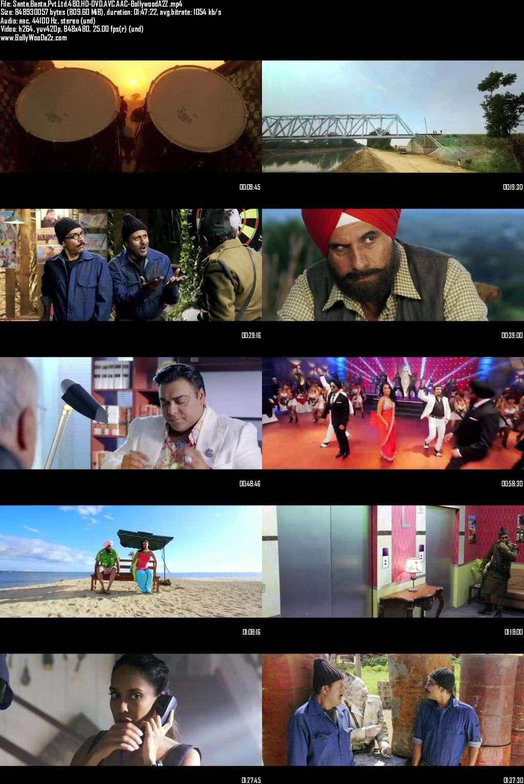 Santa Banta Pvt Ltd (2016) 480p - HD-DVDRip - AVC - AAC-Bollywooda2z