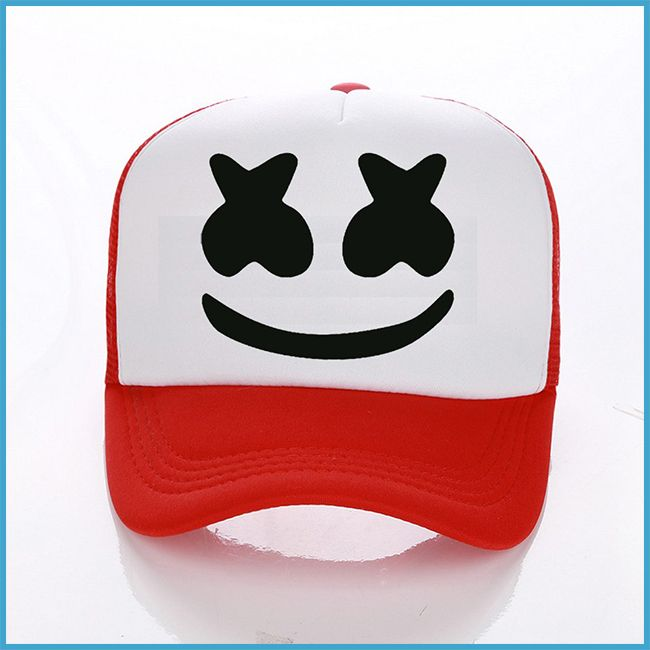 Details about Marshmello Helmet Rock Style Printed Hats Summer Baseball  Caps Unisex Snapback
