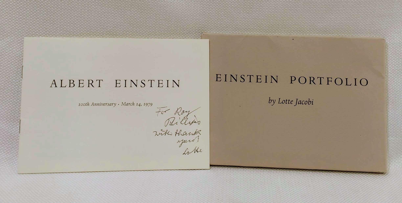 Einstein Portfolio; Albert Einstein 100th Anniversary . March 14, 1979, Jacobi, Lotte [photographer]; Bacon, Richard [introduction]