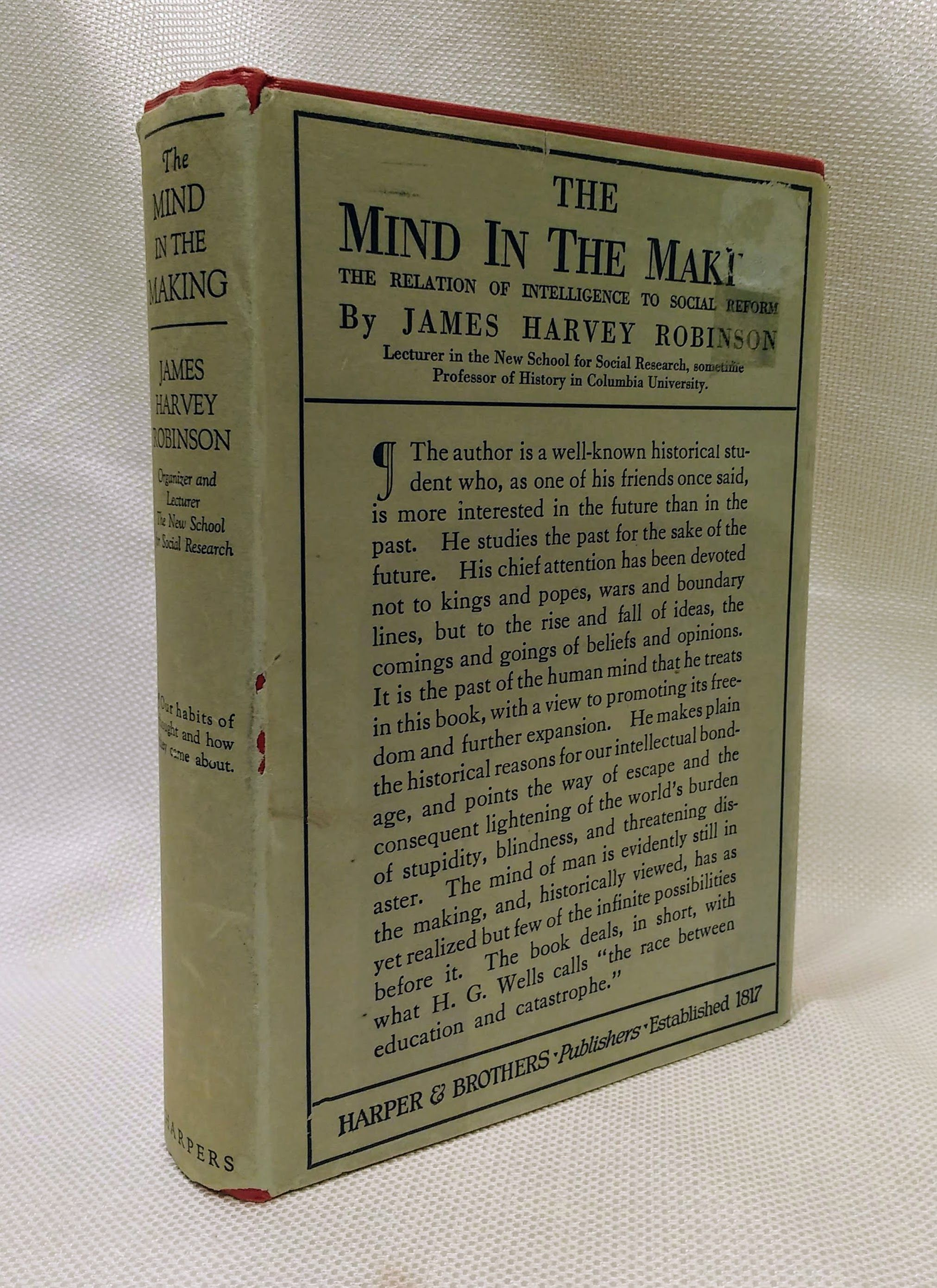 The Mind in the Making, Robinson, James Harvey
