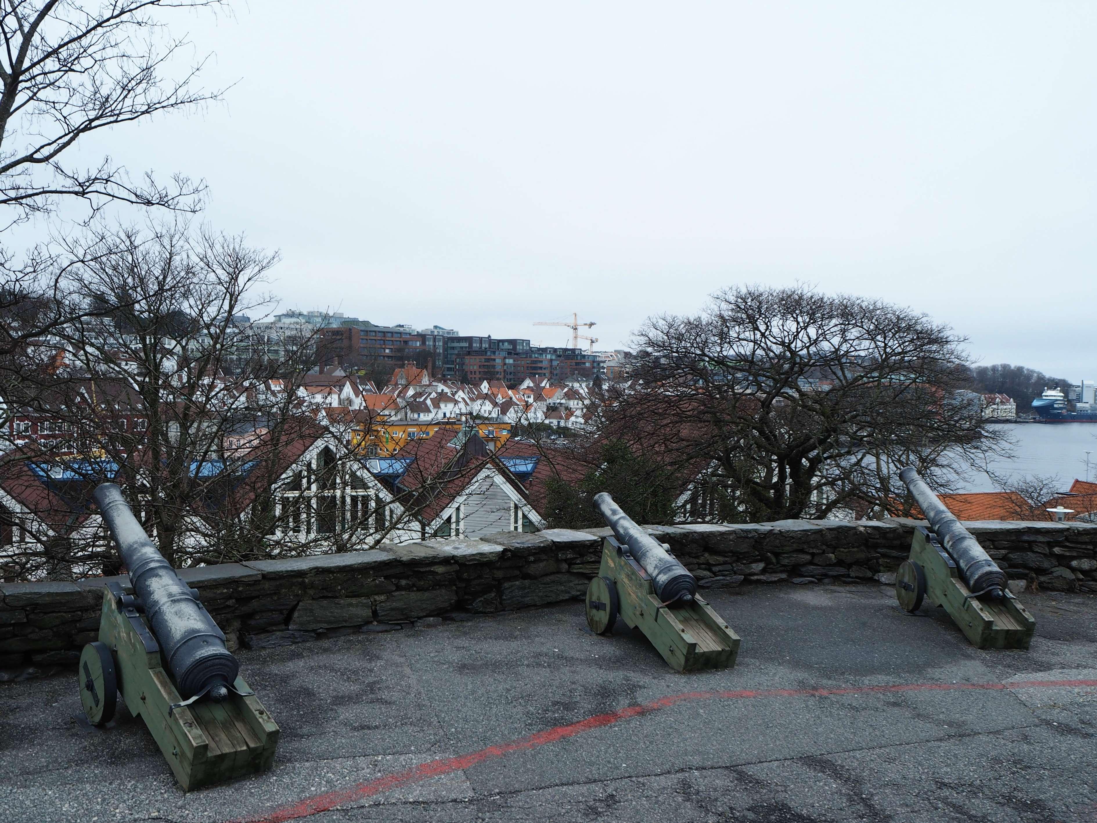 Cannons outside Valbergtårnet in Stavanger