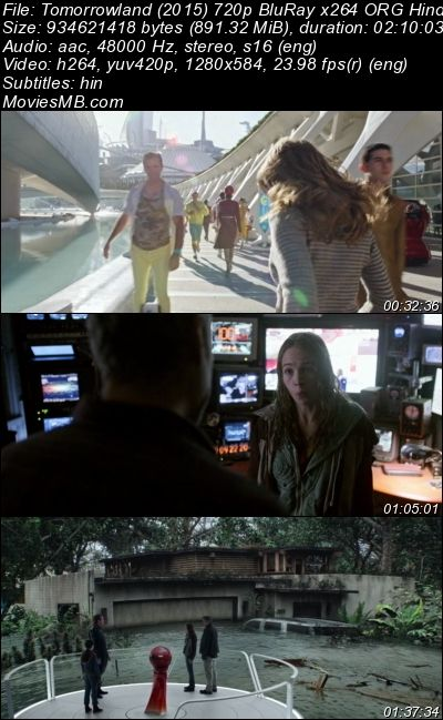 Tomorrowland 2015 720p BluRay ORG Hindi PGS Subtitle English Audio