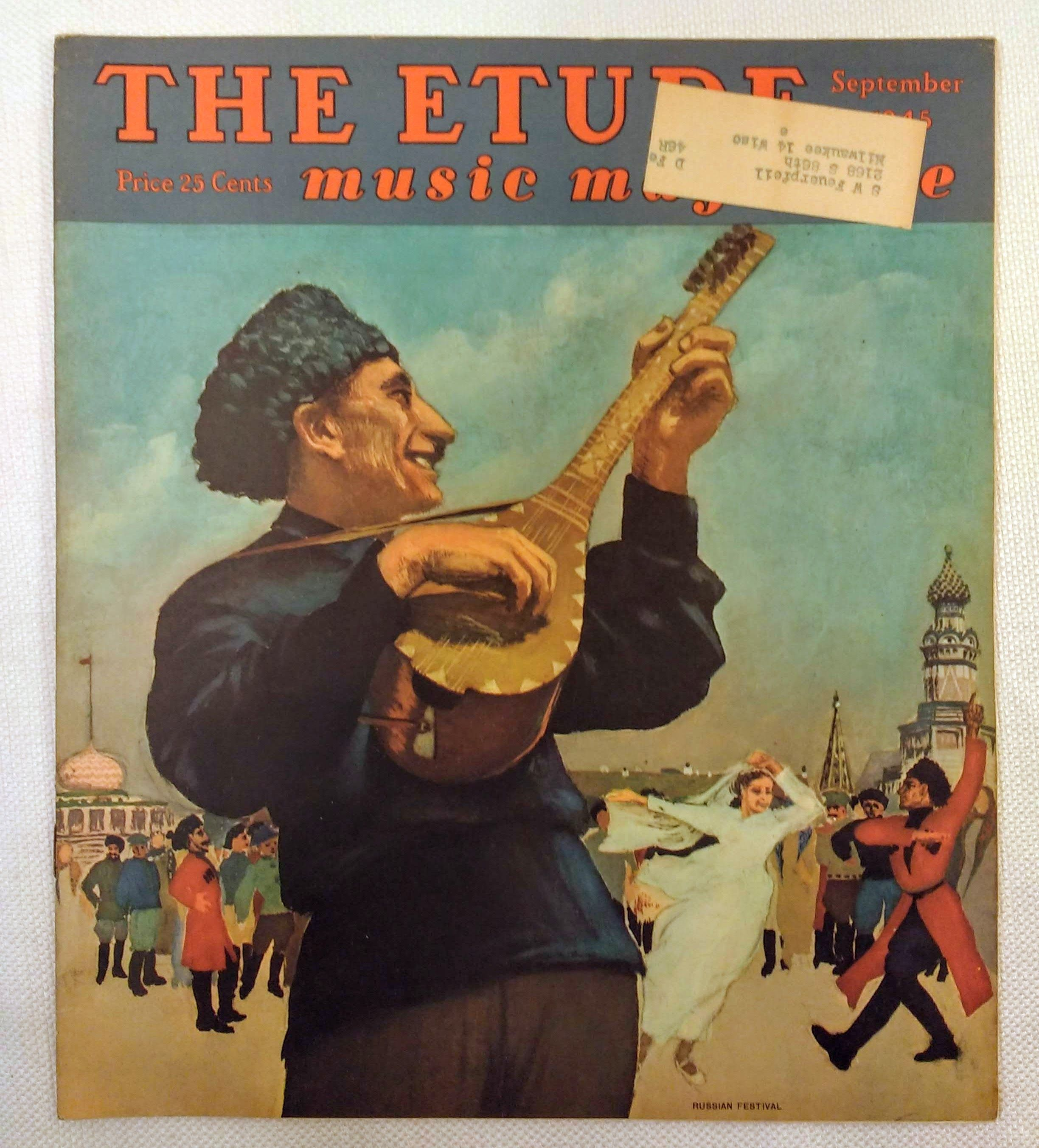 Image for The Etude Music Magazine: Volume LXIII, No. 10; September, 1945
