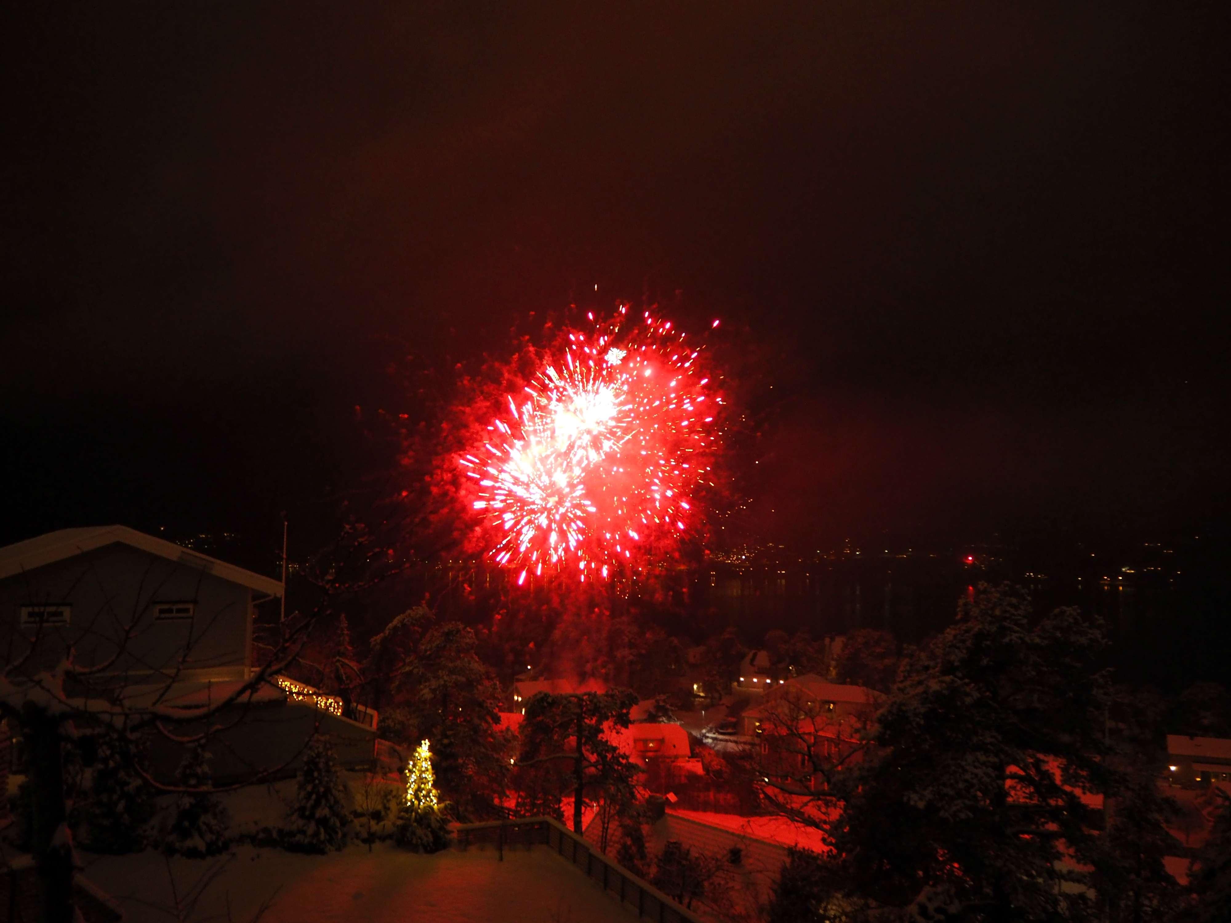 Fireworks on NYE 2018