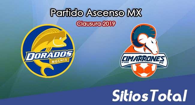 Ver Dorados de Sinaloa vs Cimarrones de Sonora en Vivo – Partido de Ida – Cuartos de Final – Ascenso MX en su Torneo de Clausura 2019