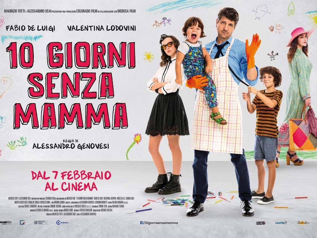 Όταν λείπει η μαμά (10 Giorni Senza Mama) Quad Poster Πόστερ