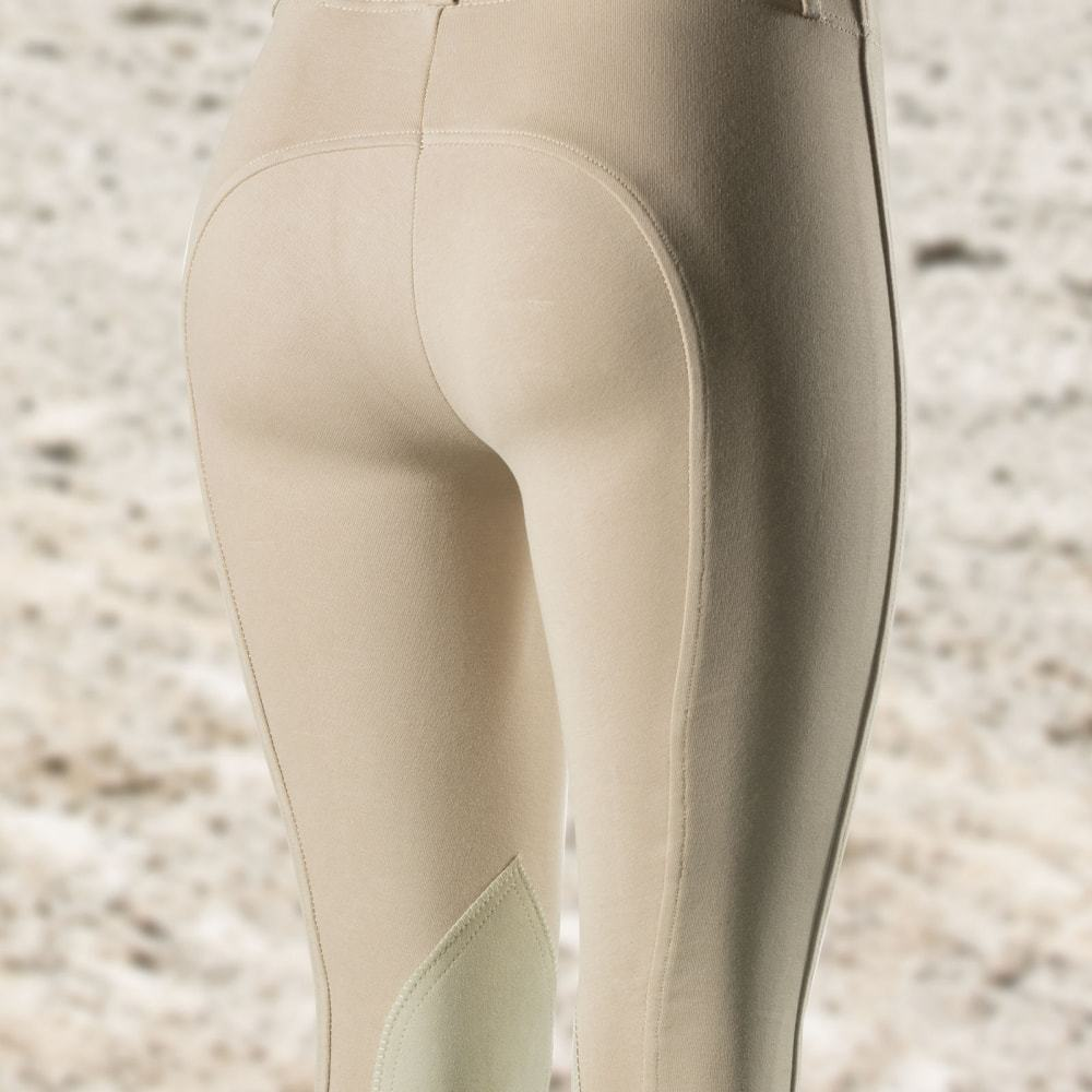 Horze-Ella-Women-039-s-Pull-On-Leather-Knee-Patch-Riding-Breeches-Knitted-Fabric thumbnail 18