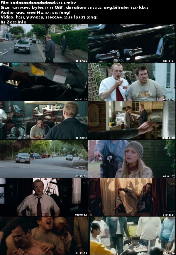 Shaun of the Dead 2004 English 720p BluRay x264 1.1GB