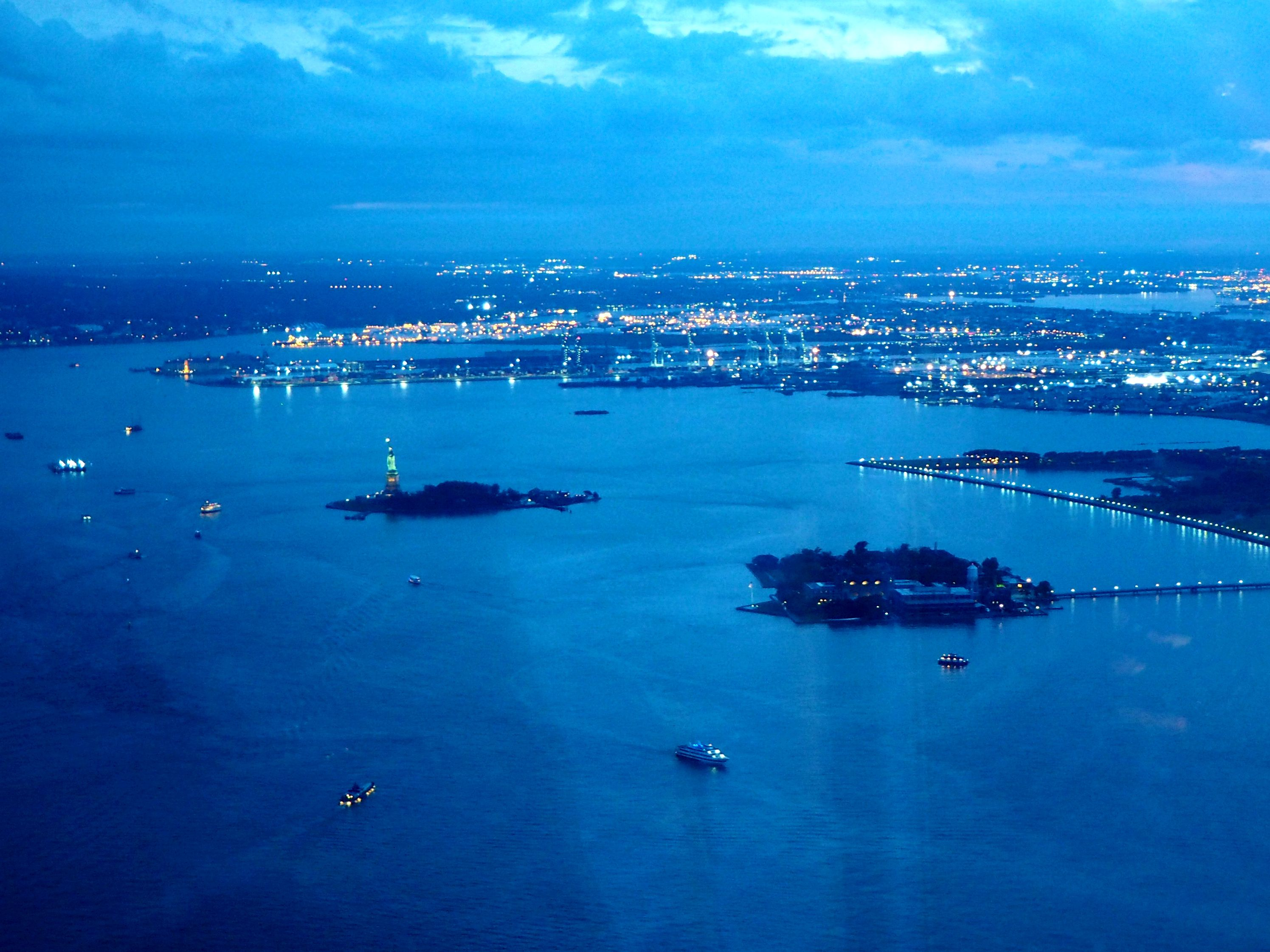 View of the Statue of Liberty from the One World Observatory