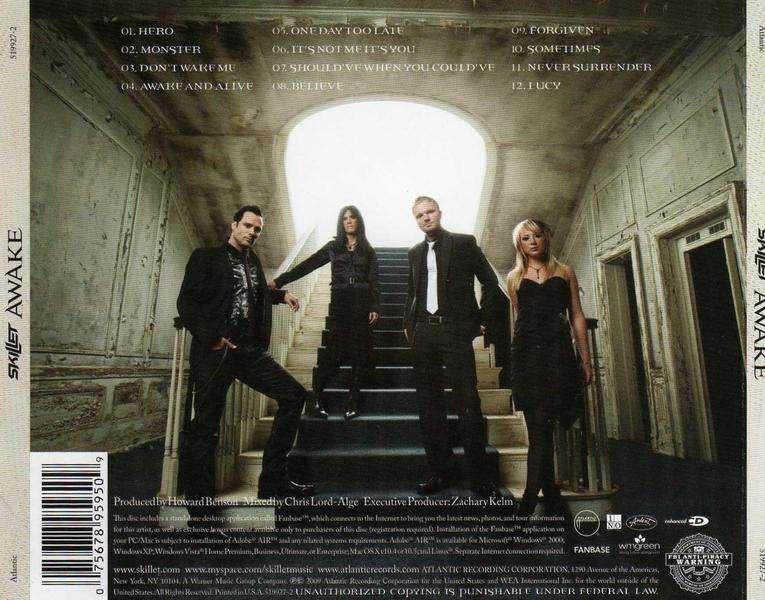 Skillet Awake Deluxe Edition 2009 Metal Jukebox